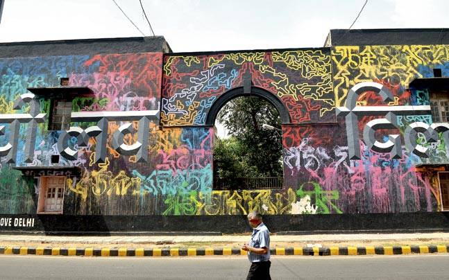 Image result for street art in delhi